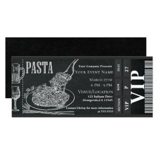 Carte Billet de dîner de la craie VIP de dîner de vin de