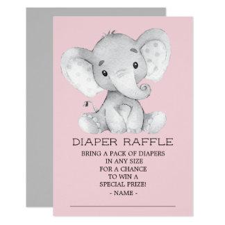 Carte Billet de tombola de couche-culotte de baby shower