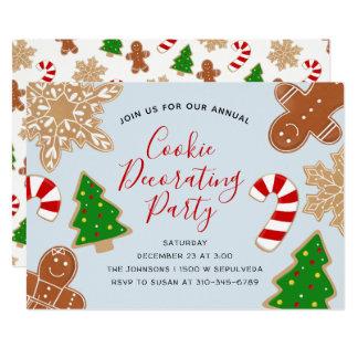 Carte Biscuit de Noël décorant la fête de vacances