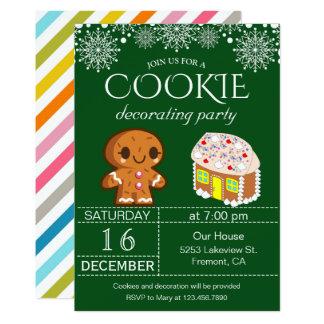 Carte Biscuit mignon de Noël décorant l'invitation de