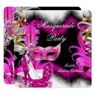 Carte Blanc 2 de noir de rose d'anniversaire de partie