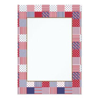 Carte Blanc de patchwork americana des Etats-Unis et