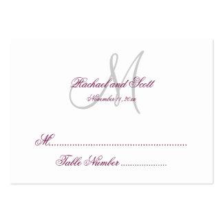 Carte blanche d'allocation des places de mariage carte de visite grand format