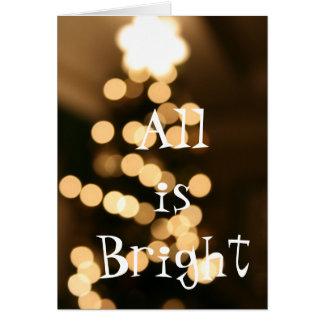Carte blanche d'arbre de Noël de lumière d'étoile