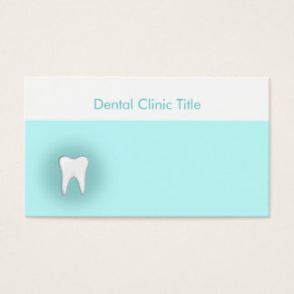 Carte blanche de bleu de dents de clinique