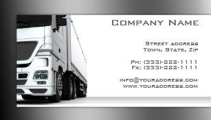 Carte Blanche De Camion Transport Et Logistique