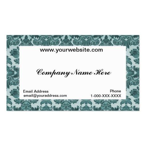 Carte blanche de profil d'affaires de damassé carte de visite