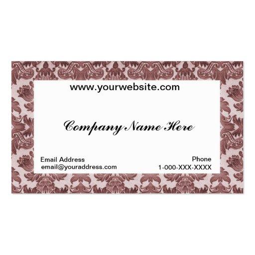 Carte blanche de profil d'affaires de damassé cartes de visite professionnelles