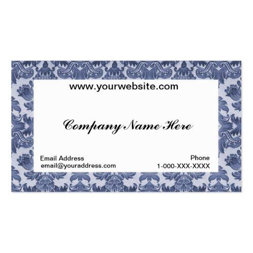 Carte blanche de profil d'affaires de damassé modèles de cartes de visite