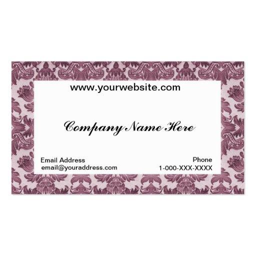 Carte blanche de profil d'affaires de damassé cartes de visite personnelles