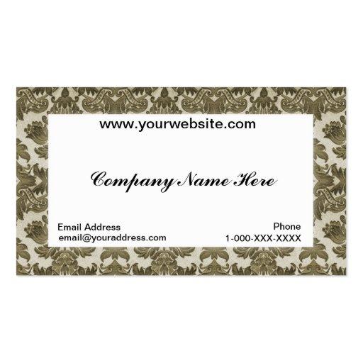 Carte blanche de profil d'affaires de damassé modèle de carte de visite