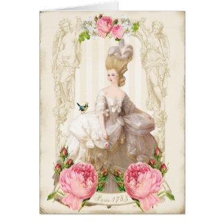 Carte blanche de roses de dress&Pink de Marie