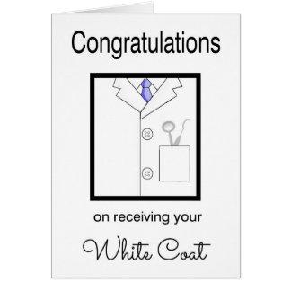 Carte blanche dentaire de félicitations de manteau