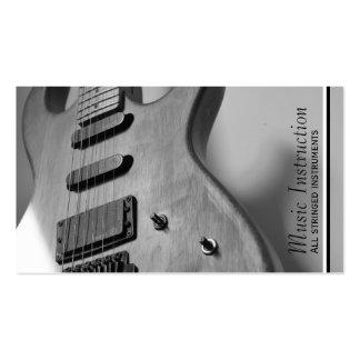 Carte blanche noire d'industrie musicale de carte de visite standard