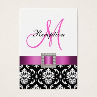 Carte blanche noire rose de clôture de réception