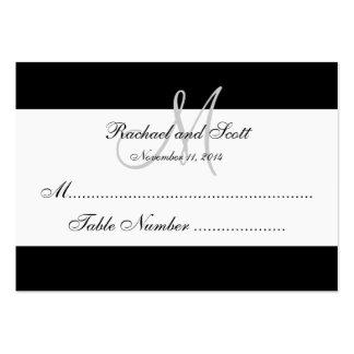 Carte blanche noire simple d'allocation des places cartes de visite personnelles