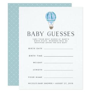 Carte Bleu | dans le jeu de devinettes de baby shower
