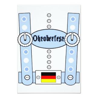 Carte Bleu drôle de Lederhosen d'Oktoberfest