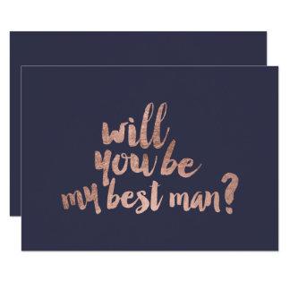 Carte Bleu rose d'or vous serez mon meilleur homme
