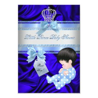 Carte Bleu royal de petit garçon de prince baby shower