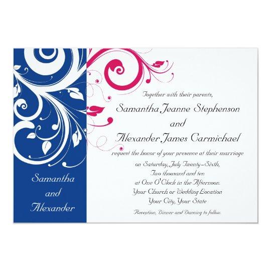 Carte bleu royal mariage fuchsia de remous for Code vestimentaire royal de mariage