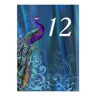 Carte bleue chic de nombre de Tableau de mariage Carton D'invitation 12,7 Cm X 17,78 Cm