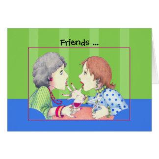 Carte bleue d'amis de bourdonnement