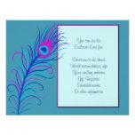 Carte bleue de clôture de plume bristols personnalisés