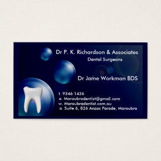 Carte bleue de conception de bulle d'art dentaire