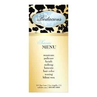 Carte bleue de fidélité de léopard de la boutique  carte double en  couleur