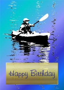 Carte Bleue Kayak.Invitations Faire Part Cartes Anniversaire Kayak Zazzle Fr