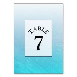 Carte bleue de nombre de Tableau de mariage d'Aqua