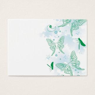 Carte bleue de profil de papillons
