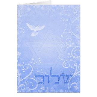 Carte bleue de remous de colombe de Shalom