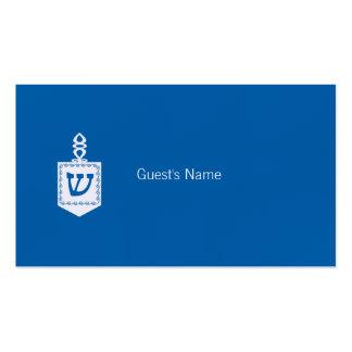 Carte bleue d'endroit de Dreidel de motif de Carte De Visite Standard