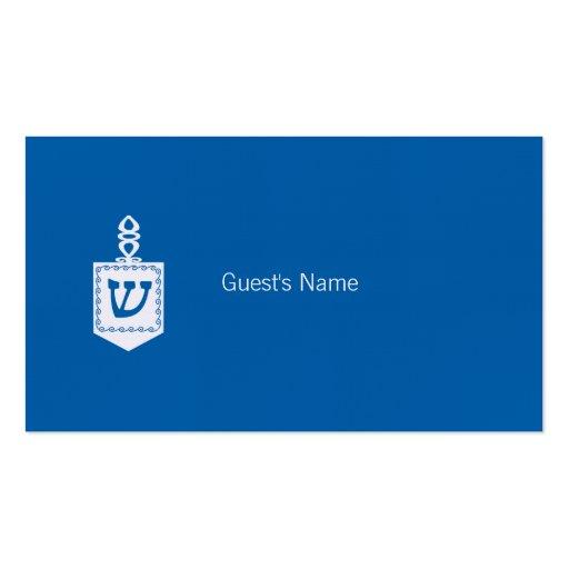 Carte bleue d'endroit de Dreidel de motif de Hanou Cartes De Visite Personnelles