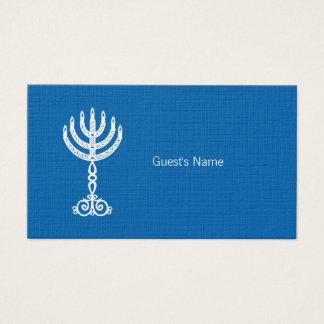 Carte bleue d'endroit de motif de Hanoukka