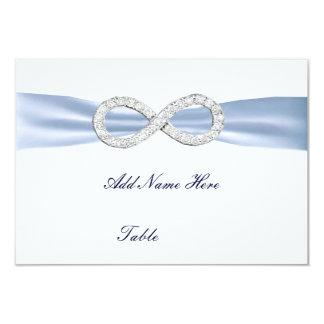 Carte bleue d'endroit de Tableau de mariage Bristols Personnalisés