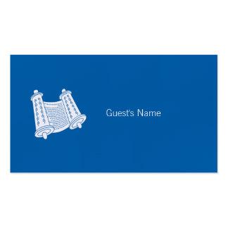 Carte bleue d'endroit de Torah de motif de Carte De Visite Standard