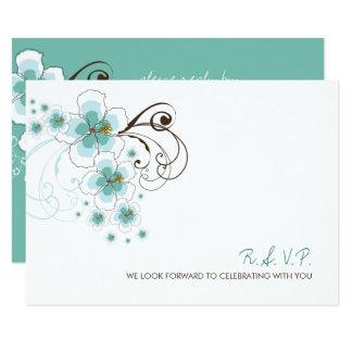 Carte bleue du mariage de plage de ketmie