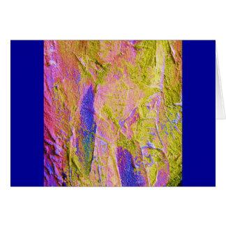 Carte bleue rose jaune de l'écrasement III - perso