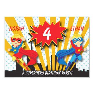 Carte Blonde de l'anniversaire | de super héros de