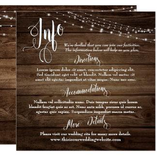 Carte Bois rustique de Brown avec des lumières, épousant