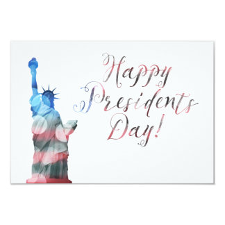 Carte Bokeh de liberté de Day du Président heureux