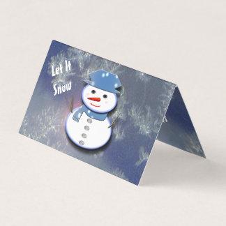 Carte Bonhomme de neige blanc pur
