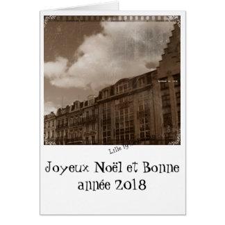 Carte bonne année 2018 Lille vielli