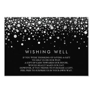 Carte bonne de souhait noire de confettis