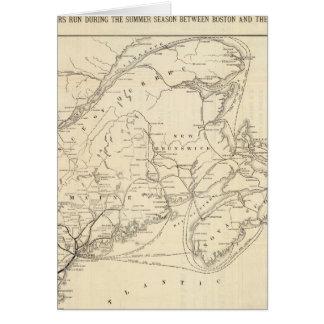 Carte Boston et chemin de fer du Maine