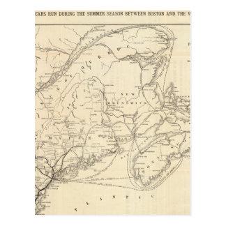 Carte Boston et chemin de fer du Maine Cartes Postales