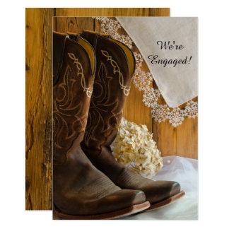 Carte Bottes de cowboy et partie de fiançailles